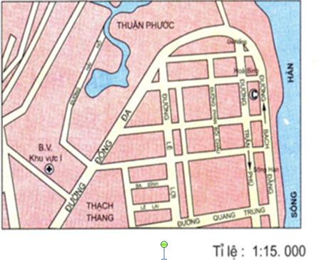 Hình 9: Bản đồ một khu vực của TP  Đà Nẵng