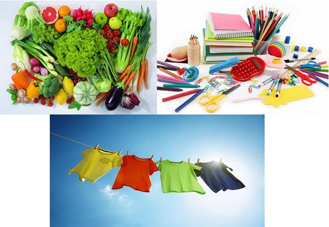 Một số loại lương thực, thực phẩm và đồ dùng chứa hợp chất hữu cơ