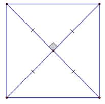 Trắc nghiệm Hình vuông có đáp án
