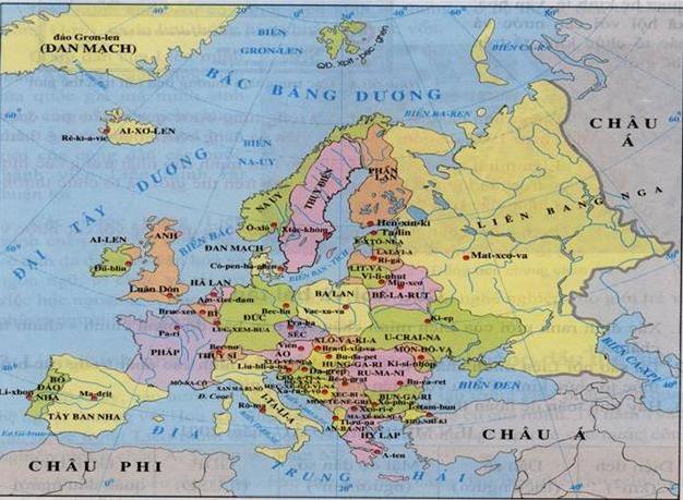 Lược đồ các nước Châu Âu
