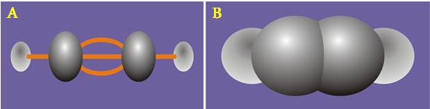 Công thức cấu tạo của axetilen