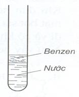 Benzen không tan trong nước