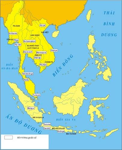 Lược đồ các quốc gia Đông Nam Á cổ đại và phong kiến