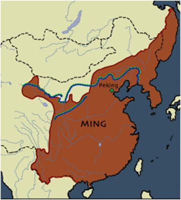 Bản đồ Trung Quốc thời nhà Minh