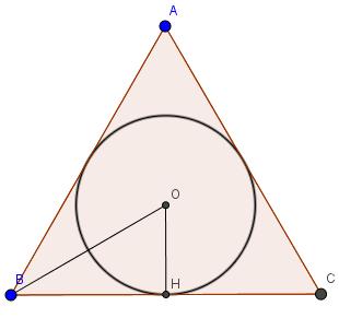 đường tròn nội tiếp tam giác đều