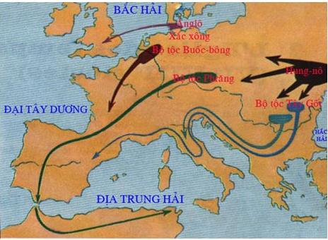 Sự xâm lược của các tộc người Giéc-man vào đế quốc Rô-ma