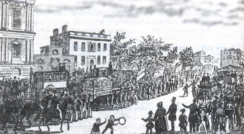 Công nhân Anh đưa hiến chương đến Quốc hội.