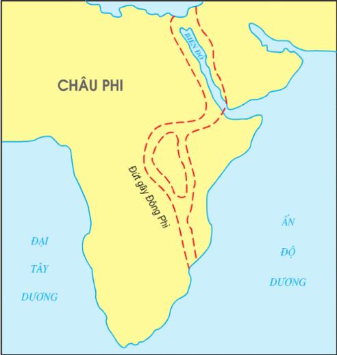 Hình 8.4. Đứt gãy Đông Phi và Biển Đỏ