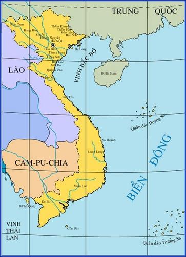 Lược đồ một số di chỉ khảo cổ ở Việt Nam