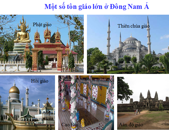 Một số tôn giáo lớn ở Đông Nam Á