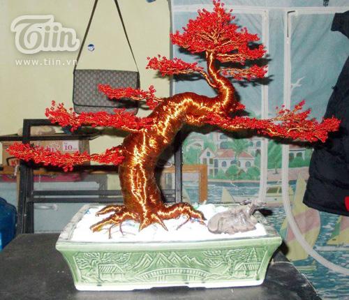 Cây bonsai bằng kim loại Đồng