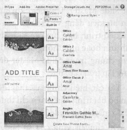 Áp dụng bộ font chữ Office Classic