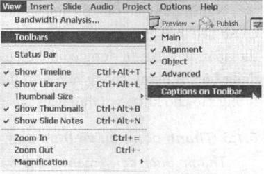 Bật hoặc tắt các thanh công cụ từ thực đơn View/ Toolbars