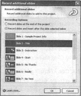 Thao tác chèn thêm trang vào tệp dự án
