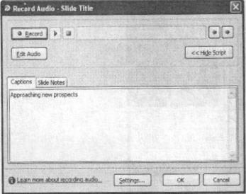 Giao diện đưa thêm âm thanh vào dự án hoặc một trang