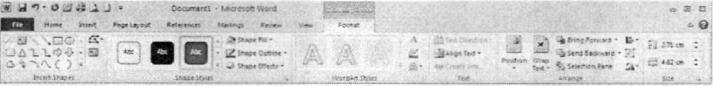 Thanh công cụ Drawing Format