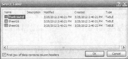 Chọn mỗi bảng tính trong tệp Excel