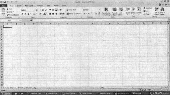 Màn hình làm việc của Excel