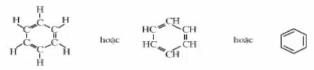Công thức cấu tạo của benzen