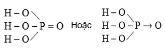 Cấu tạo phân tử H3PO4