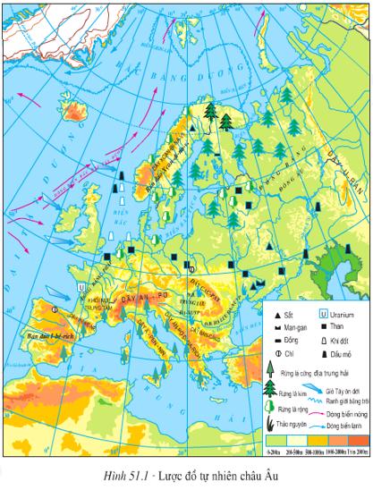 Lý thuyết, Trắc nghiệm Địa Lí 7 Bài 51: Thiên nhiên châu Âu | Lý thuyết và trắc nghiệm Địa Lí 7 chọn lọc có đáp án