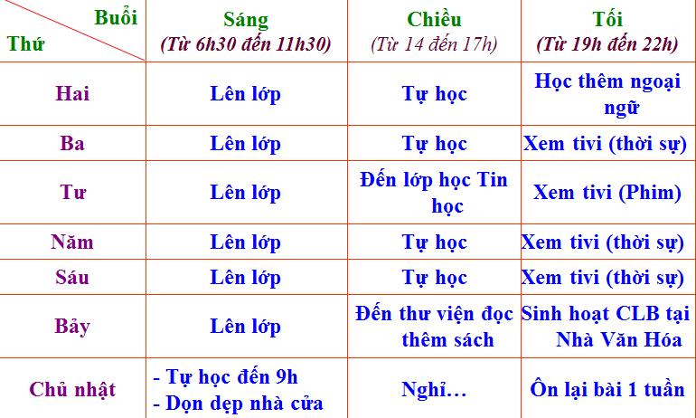 Lịch làm việc của Nguyễn Hải Bình