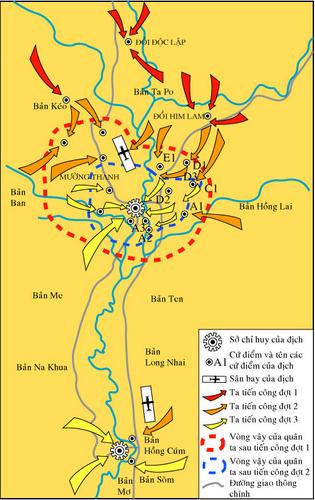 Lược đồ chiến dịch Điện Biên Phủ