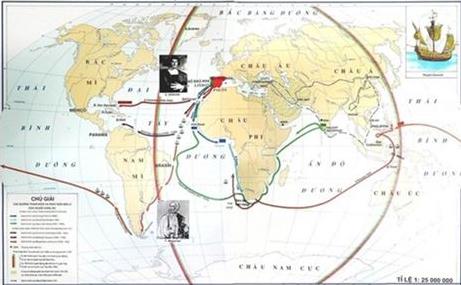 Lược đồ những cuộc phát kiến địa lý