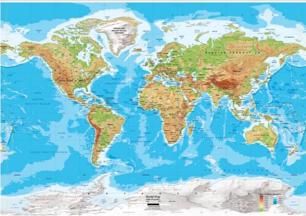 Bản đồ tự nhiên Thế giới