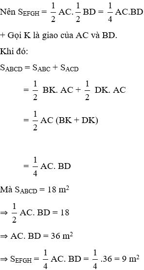 Trắc nghiệm Diện tích hình chữ nhật có đáp án