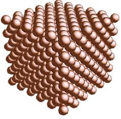 Mô hình tượng trưng một mẫu kim loại Đồng (rắn)