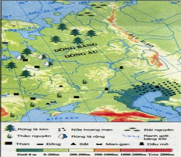 Lược đồ tự nhiên của Đông Âu