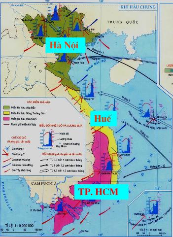 Lược đồ khí hậu Việt Nam
