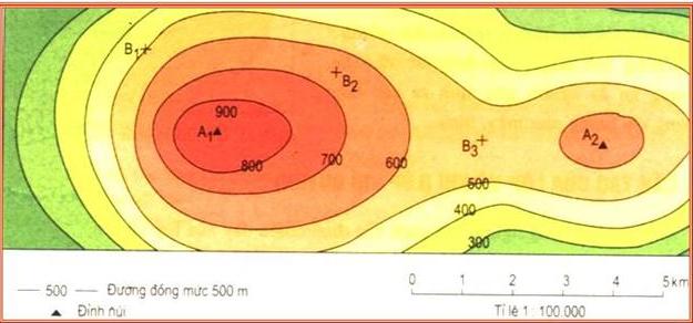 Lược đồ địa hình tỉ lệ lớn