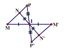 Ba điểm thẳng hàng qua phép đối xứng tâm