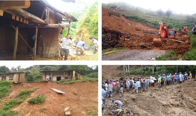 Một số hình ảnh về hiện tượng sạt lở đất