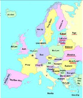 Lược đồ các nước Đông Âu
