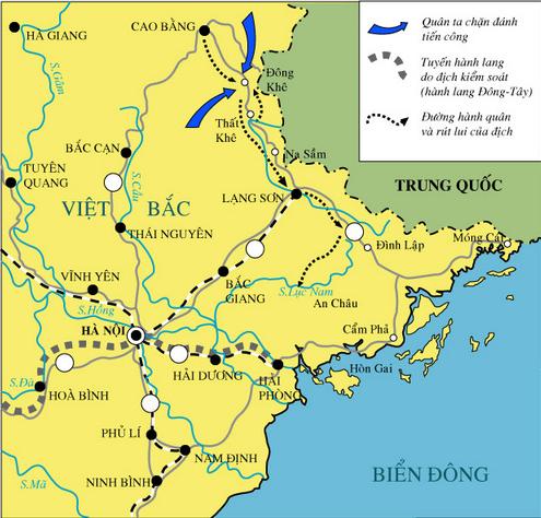 Lược đồ chiến dịch Biên giới thu- đông 1950