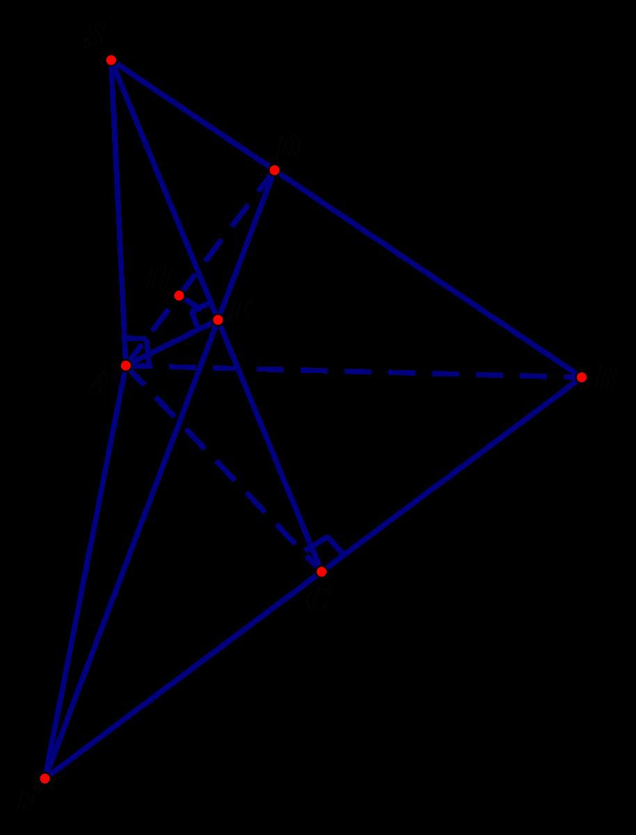 Cho hình chóp  S.ABC có đáy ABC là tam giác vuông tại C