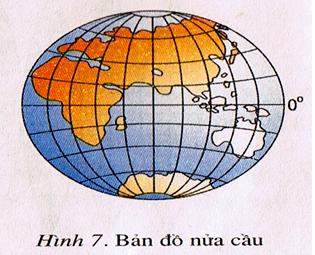Bản đồ trên địa cầu