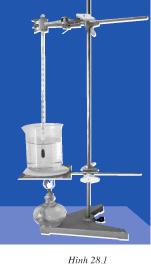 Thí nghiệm mô phỏng về sự sôi : Đốt đèn cồn để đun nước