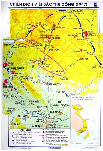 Lược đồ chiến dịch Việt Bắc Thu Đông