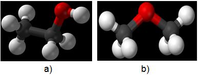 Công thức cấu tạo của ancol etylic và đimetyl ete