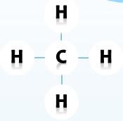 Công thức cấu tạo của metan