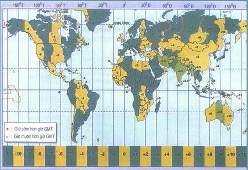 Các múi giờ trên Trái Đất