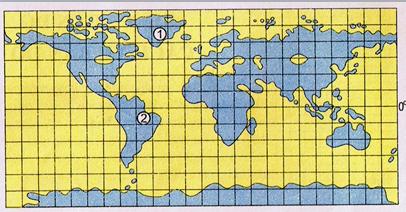 Bản đồ địa cầu sau khi đã nối những chỗ đứt