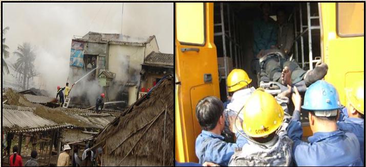 Một số hình ảnh về vụ nổ khí Metan