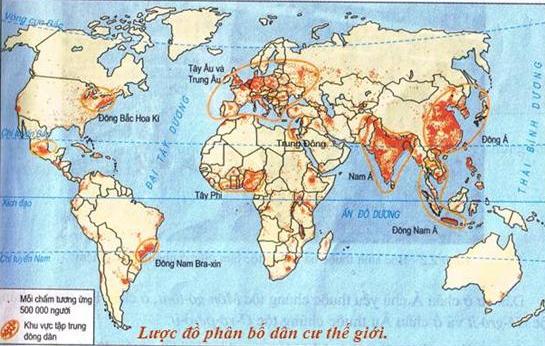 Lược đồ phân bố dân cư thế giới