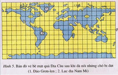 Bản đồ được nối các điểm cắt
