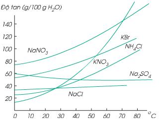Ảnh hưởng của nhiệt độ đến độ tan của chẩt rắn